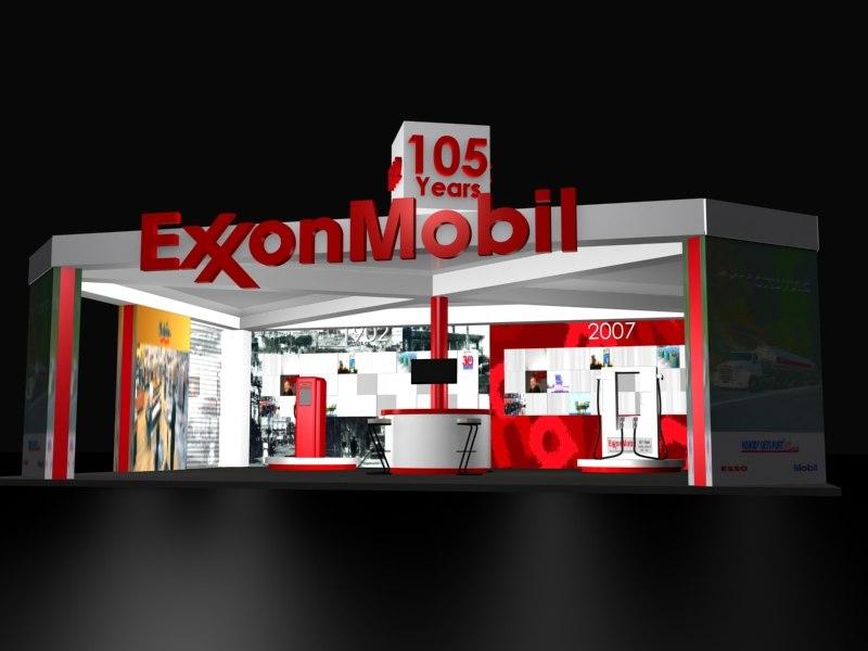 3d exxonmobil exibition model