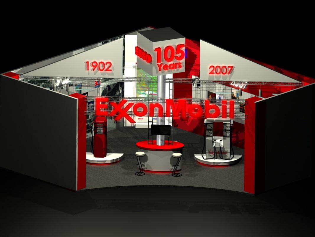 maya exxonmobil exibition stand