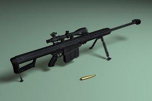 3d barrett m82a1 sniper rifle