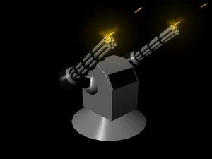 free chain gun 3d model