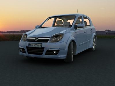 car opel astra 2004 3d model