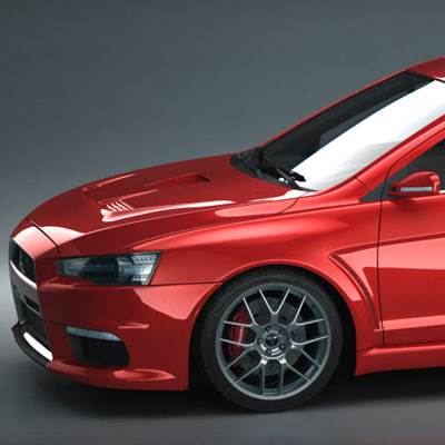 performance mitsubishi evo x 3d model