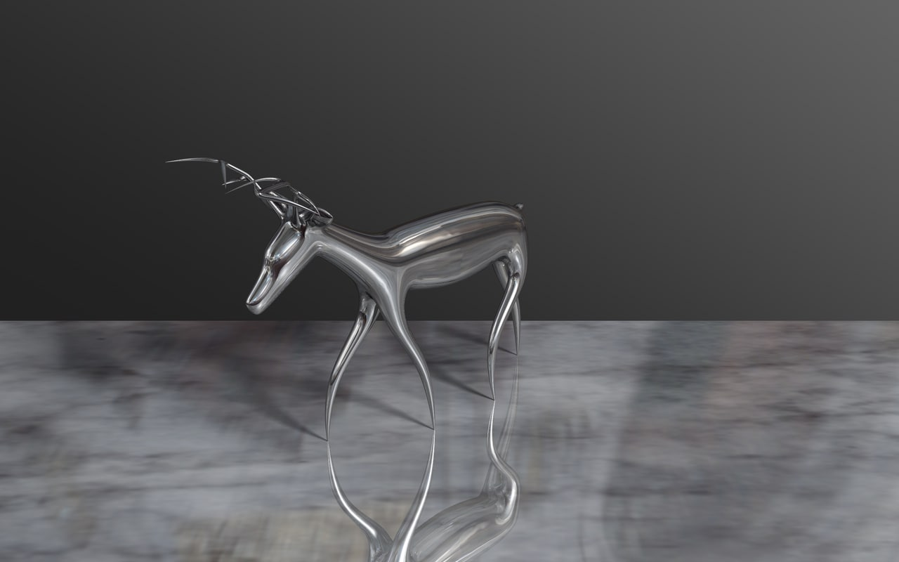 3d reindeer christmas model