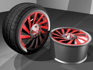 3d car vehicle wheel tire