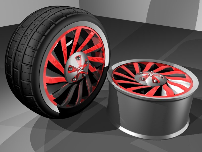 3d car vehicle wheel tire