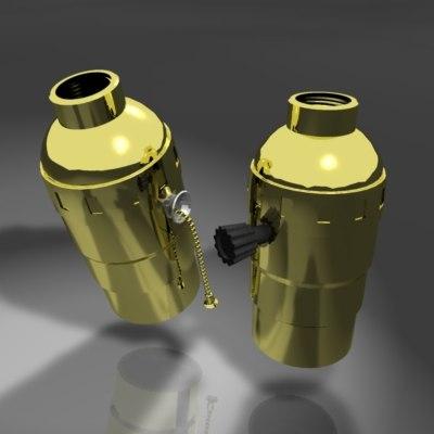 3d light bulb sockets model