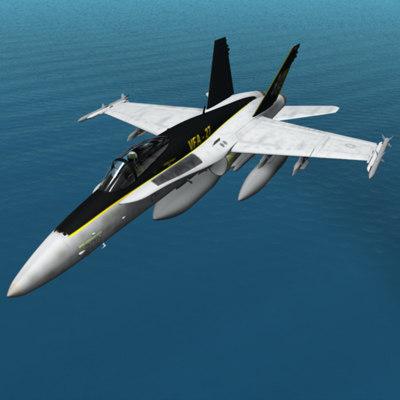 maya f-18 hornet fighter