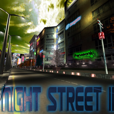 3ds max realtime night street ii