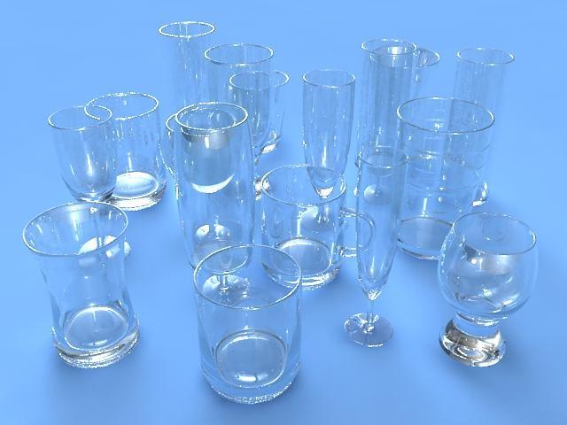 glasses place 3d max