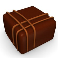 3d chocolate candy model
