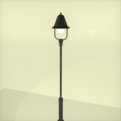 3d street light lamp