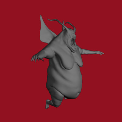 3d model winged creature
