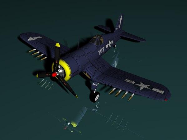 3d f4u corsair maxon model