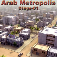 arab city construction buildings 3d model