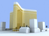 3d mandalay bay building