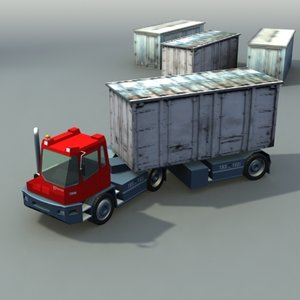port tractor industrial vehicles 3d max