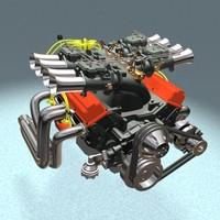 3d model grand sport motor american v8