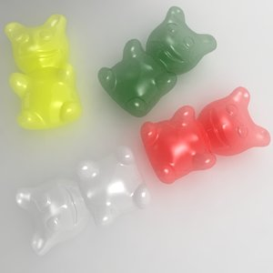 3ds max candy gummi bear