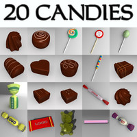 candies bonbons 3d 3ds