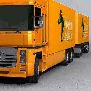 magnum trailer 3d max