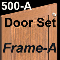 500A-SET-Frame-A-Wood Kitchen Cabinet doors