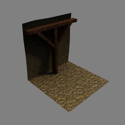 tiles levels rpg 3d model