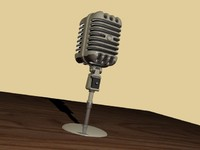 3d styled microphone