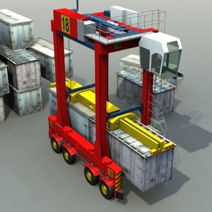 3d straddle carrier model