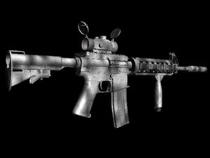 3d military m4 assault rifle