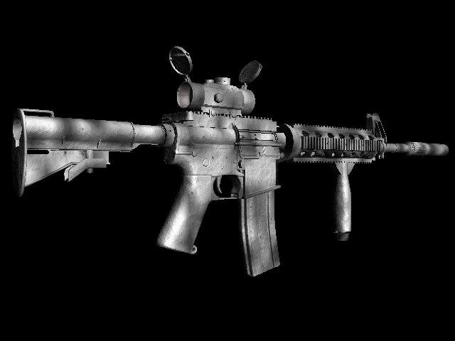 3d military m4 assault rifle
