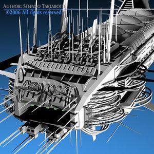 3d spaceship space ship model