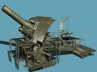 german trench howitzer 3d model