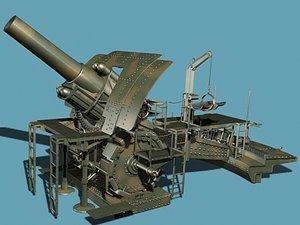 german trench howitzer 3d model