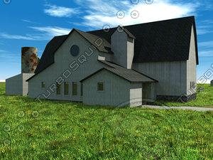 barn country rural 3d model