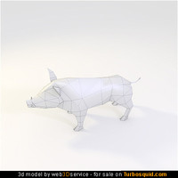 3d obj wild boar 432 triangles