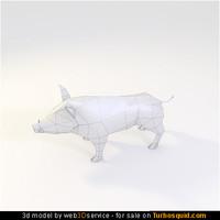 wild Boar 3d model 432 triangles