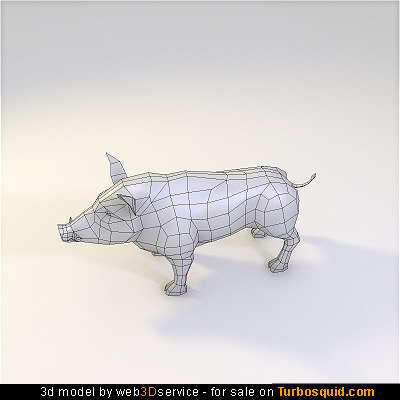 obj wild boar 1248 triangles