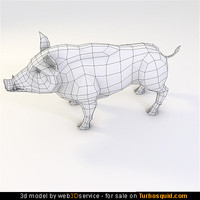 wild Boar 3d model 2118 triangles