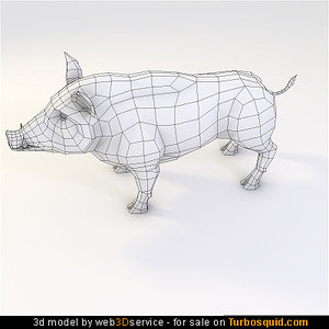 3d polygonal wild boar 2118