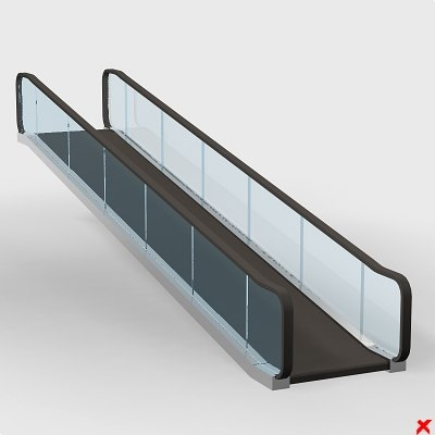 escalator elevator stairs 3d model