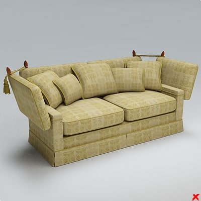 sofa loveseat 3d 3ds