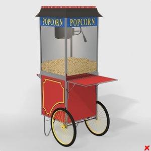 3d popcorn popper