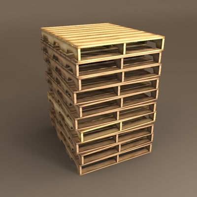 stack pallets 3d 3ds