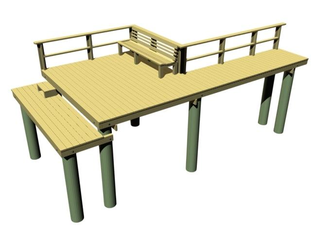 3d florida dock model