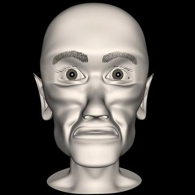 realistic old man head 3d c4d