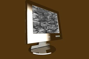 free flachbildschirm monitor lcd spiegel 3d model