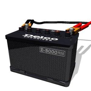 ac delco battery 3d model
