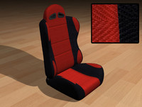 3ds max race car seat bucket