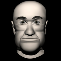 3d realistic fat man head