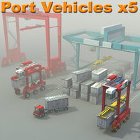 PortVehicles_x5_3Dmodel